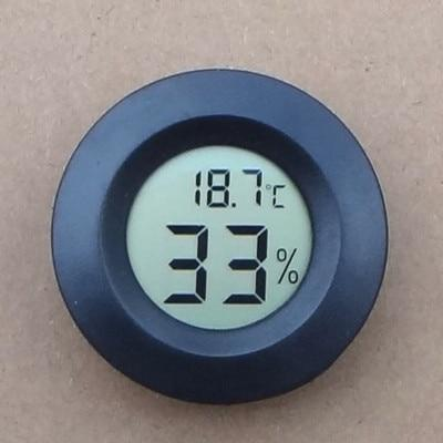 Mini LCD Digital Aquarium Thermometer Aquarium Thermometer Pet Clever Black