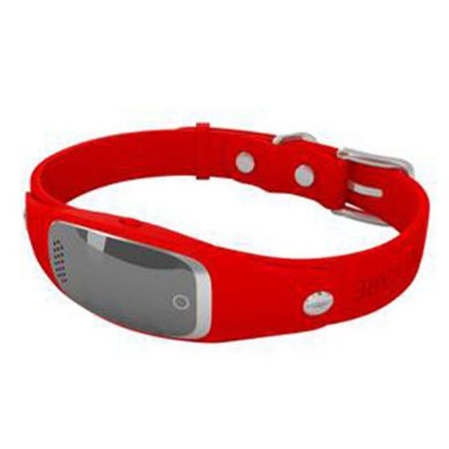 Mini Silicon Pet GPS Tracker Global Locator Real Time Collar GPS Trackers Pet Clever Red