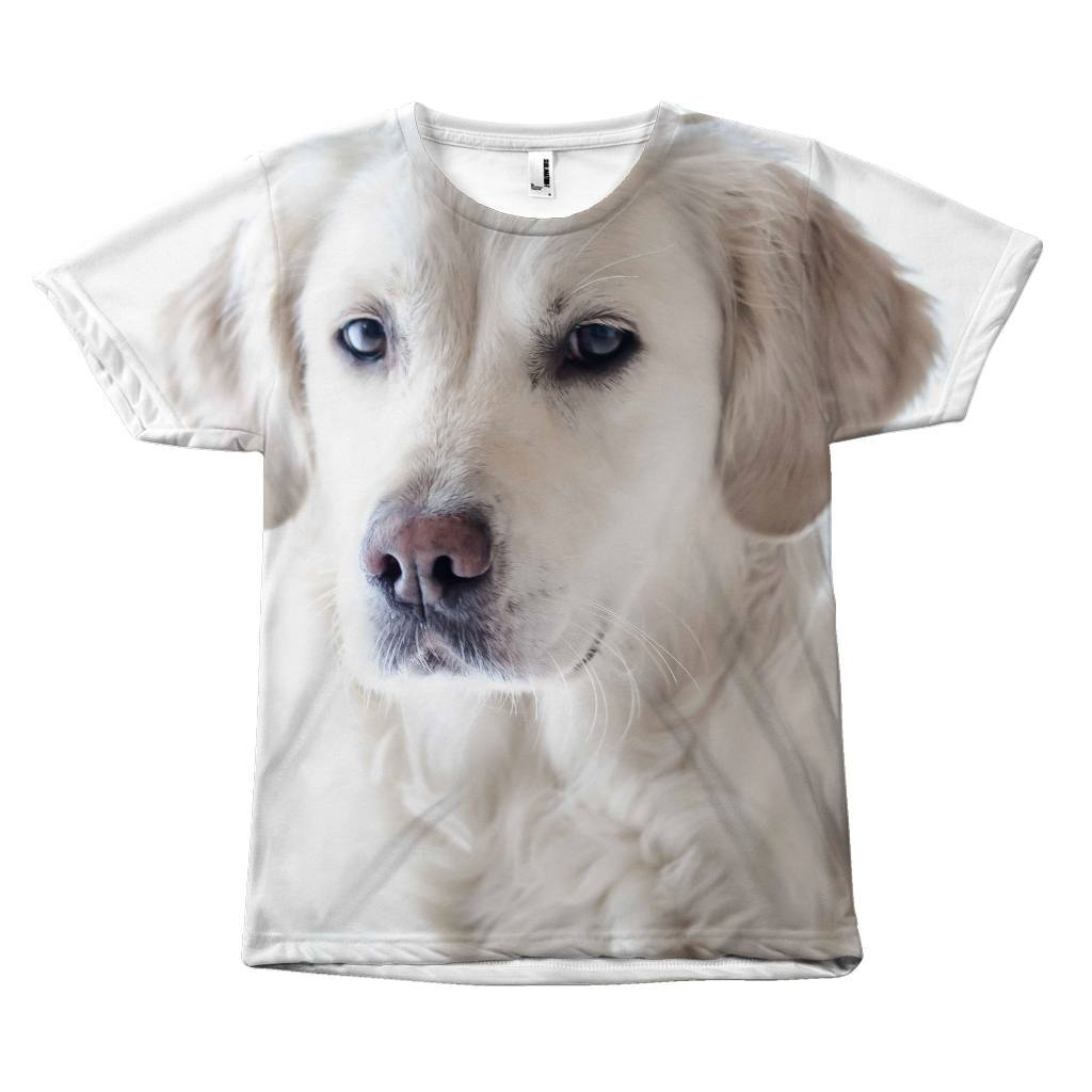 "Minimalistic ""White Labrador Dog Design"" T-Shirt All Over Print teelaunch White Labrador S"