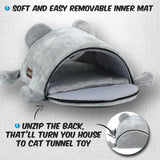 Mouse Cat House Bed With Removable Cushion & Waterproof Bottom Cat Beds & Baskets Pet Clever