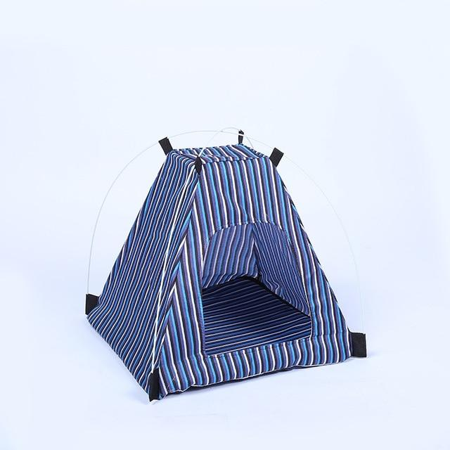 Multi-Colour Lovely Pet Tent With Cushion Dog Tent Pet Clever Blue