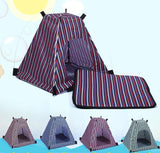 Multi-Colour Lovely Pet Tent With Cushion Dog Tent Pet Clever