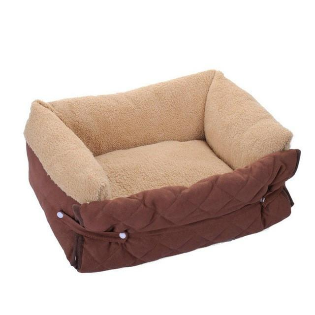 Multi-function Cozy Winter Dog Sofa Bed Mat Cushion Dog Beds & Blankets Pet Clever coffee Large