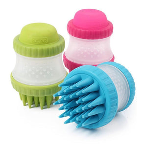 Multi-function Silicone Pet Soap Dispensing Brush Brushes Pet Clever