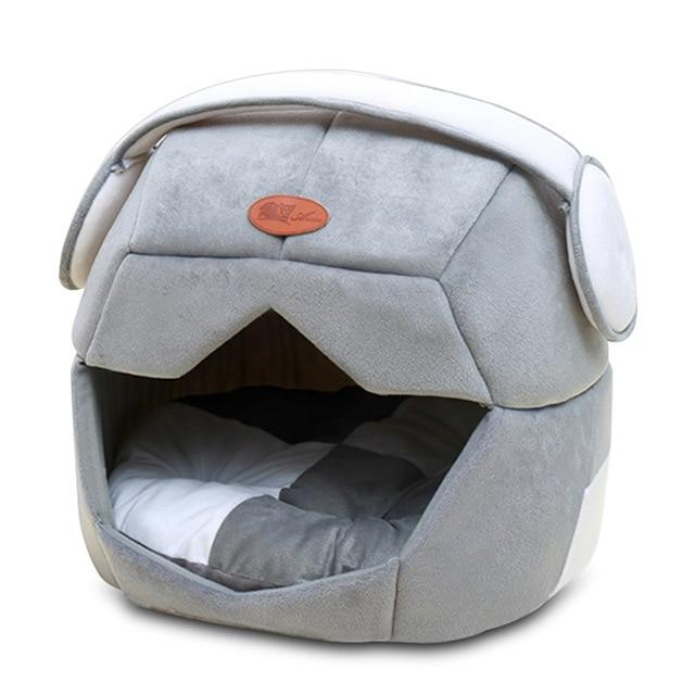 Multi-functional Mask Shaped Pet Sleeping Pad Dog Beds & Baskets Pet Clever grey S