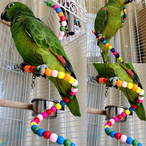 Multicolor Beads Birds Cage Toys Birds & Parrots Pet Clever