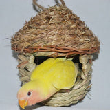 Natural Parrot Cozy Warm With Artificial Woven Hole Birds & Parrots Pet Clever S