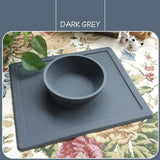 Non-Slip Pet Bowl Dog Bowls & Feeders Pet Clever Dark Grey