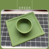 Non-Slip Pet Bowl Dog Bowls & Feeders Pet Clever Green