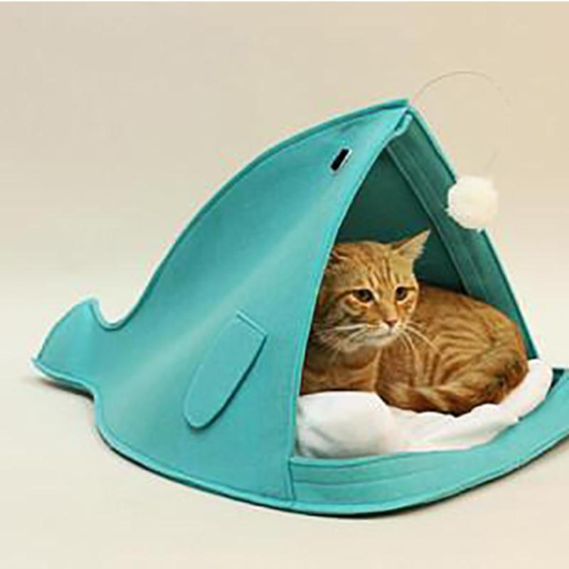 Open Mouth Cute Shark Cat Bed Cat Beds & Baskets Pet Clever