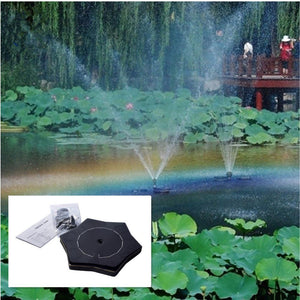Outdoor Starfish-shape Solar Floating Water Fountain Fountain Pump Pet Clever