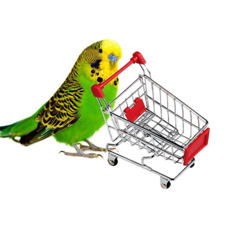 Parrot Mini Supermarket Shopping Cart Trolley Birds & Parrots Pet Clever