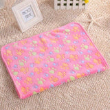 Paw Print Pet Blanket Dog Beds & Blankets Pet Clever XS Pink