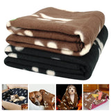 Paw Print Soft Fleece Dog Sleeping Thick Blanket Dog Beds & Blankets Pet Clever