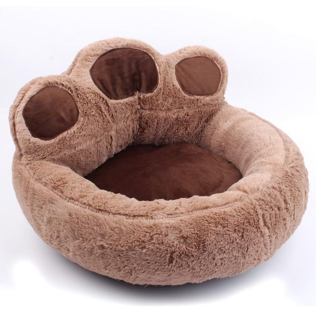 Paw Shaped Pet Bed Dog Beds & Baskets Pet Clever brown XS