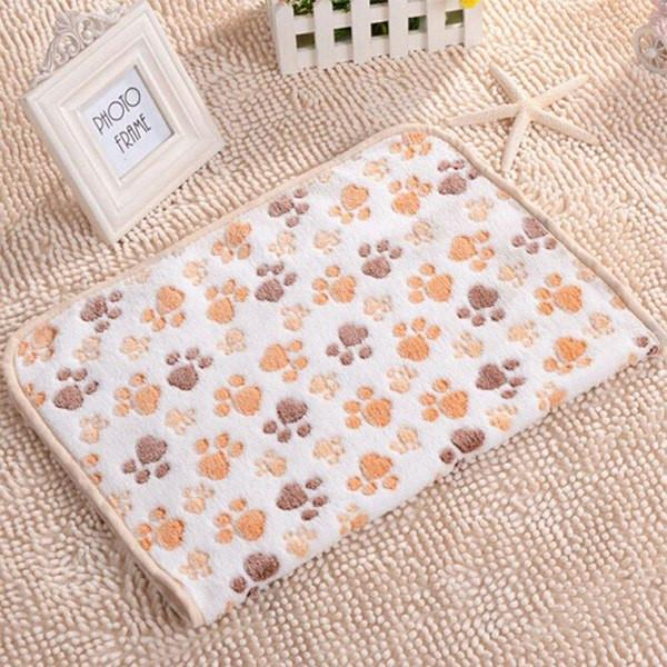 Paw Style Printed Blanket Dog Beds & Blankets Pet Clever Beige