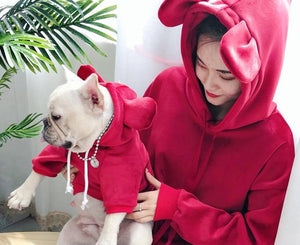 Pet and Owner Hoodie Cat Clothing Pet Clever