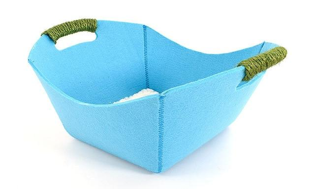 Pet Basket Bed Dog Beds & Blankets Pet Clever Blue