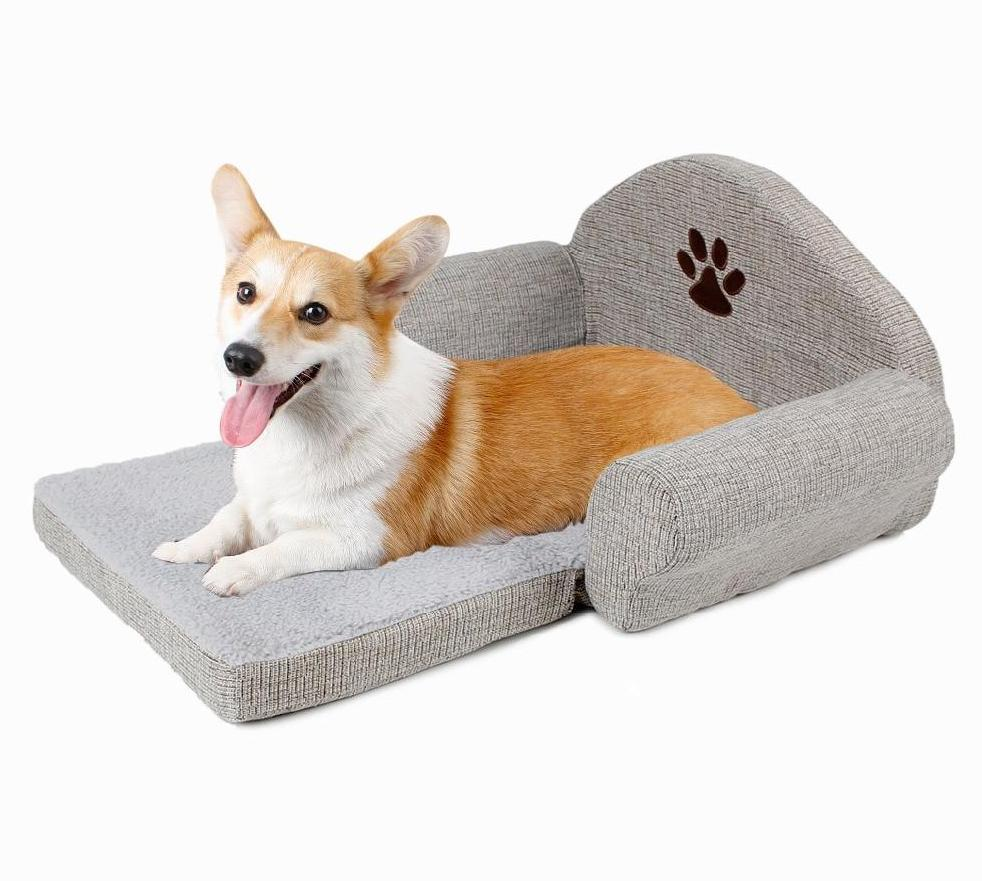 Pet Bed with Cute Paw Design Dog Beds & Blankets Pet Clever