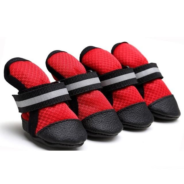 Pet Breathable Soft Bottom Anti-slide Shoes Dog Clothing Pet Clever Red S