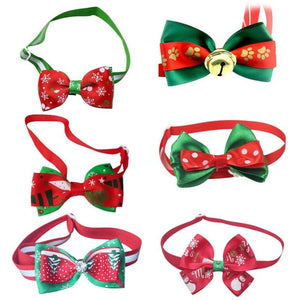 Pet Christmas Bowtie Artist Collars & Harnesses Pet Clever