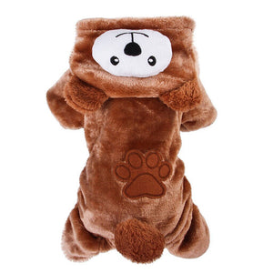 Pet Funny Bear Hooded Coat Cat Clothing Pet Clever XS