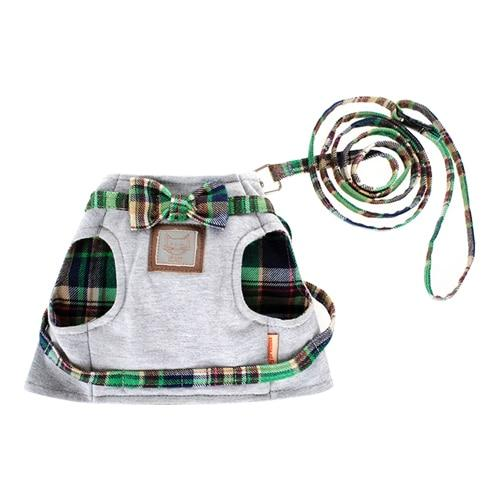 Pet Harness and Leash Set Artist Collars & Harnesses Pet Clever Green XS