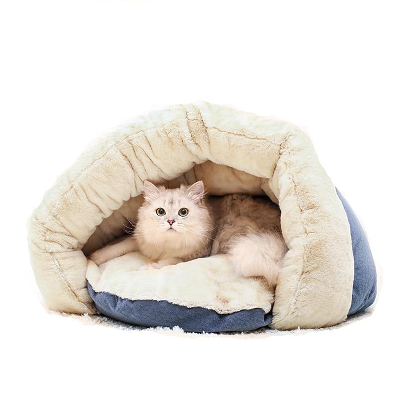 Pet Nest Kennel Removable Washable Warm Sleeping Bag Cat Beds & Baskets Pet Clever Small