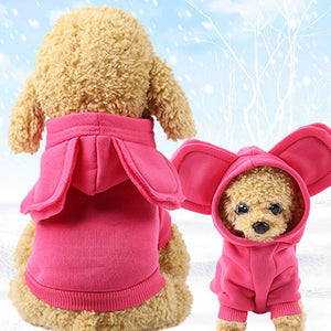 Pet Polyester Hoodie Sweatshirts Cat Clothing Pet Clever
