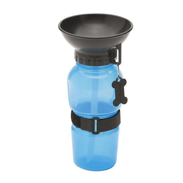 Pet Portable Travel Drinking Water Bottle Dog Bowls Pet Clever Blue