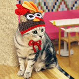 Pet Turkey Hat Thanksgiving Dog Clothing Pet Clever