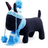 Pets Winter Knitted Striped Hat and Scarf Hats Pet Clever Blue XXS