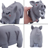 Pig Shaped Rubber Squeaky Pet Toy Toys Pet Clever