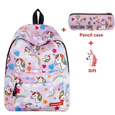 Pink Unicorn Design Backpack With Free Gift Unicorn Design Bags Pet Clever Pink Unicorn Design