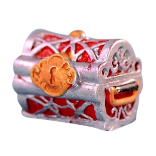 Pirate Gold Coin Treasure Box Aquarium Landscape Decoration Aquarium Decoration Pet Clever A