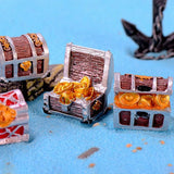 Pirate Gold Coin Treasure Box Aquarium Landscape Decoration Aquarium Decoration Pet Clever