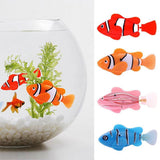 Plastic Decorative Robot Fish Toy Activated with Battery Cat Toys Pet Clever