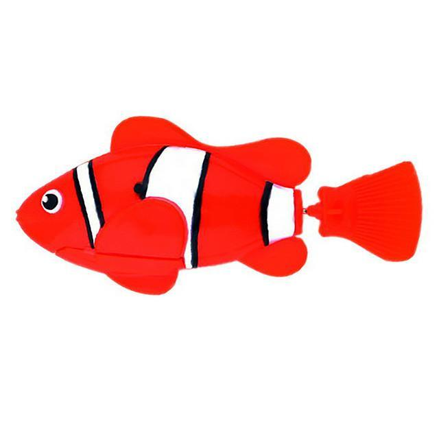 Plastic Decorative Robot Fish Toy Activated with Battery Cat Toys Pet Clever Red