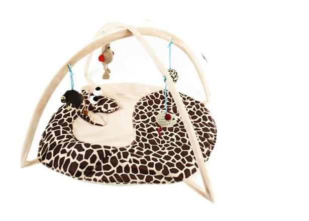 Playing Bed Tent Toy for Cats Cat Toys Pet Clever Giraffe