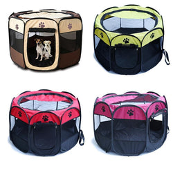 Portable Octagonal Folding Pet House Cage Pet Tent