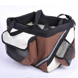 Portable Pet Bicycle Carrier Bag Basket Carrier Pet Clever Coffee