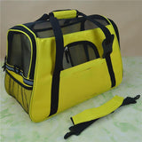 Portable Pet Carrier Shoulder Bag With Cashmere Pad Cat Carriers Pet Clever green