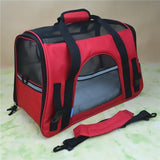 Portable Pet Carrier Shoulder Bag With Cashmere Pad Cat Carriers Pet Clever red
