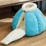 Pumpkin Pet Sleeping Cave Bed Dog Beds & Blankets Pet Clever Blue M For pet within 3kg
