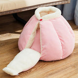 Pumpkin Pet Sleeping Cave Bed Dog Beds & Blankets Pet Clever Pink M For pet within 3kg