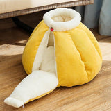 Pumpkin Pet Sleeping Cave Bed Dog Beds & Blankets Pet Clever Yellow M For pet within 3kg