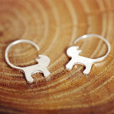 Pure 925 Silver Cat Stud Earrings Cat Design Jewelry Pet Clever