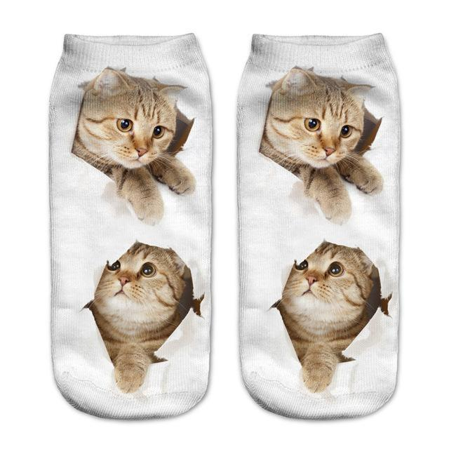 Purrfect Cat Ankle Socks Cat Design Accessories Pet Clever 10