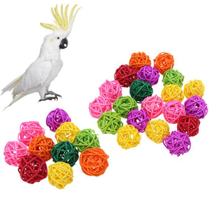 Rattan Chewing Bird Grind Ball Decor Toy Bird Toys Pet Clever