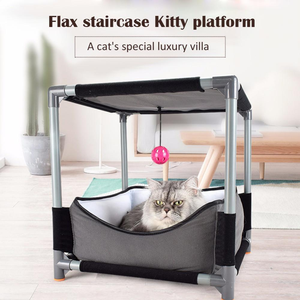 Removable Cat House Nest Playing Toy Cat Beds & Baskets Pet Clever